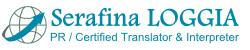 Serafina Loggia traducteur professionnel  trilingue Italien Français Anglais