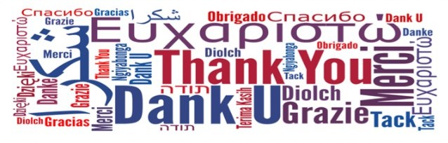 Merci en plusieurs langues