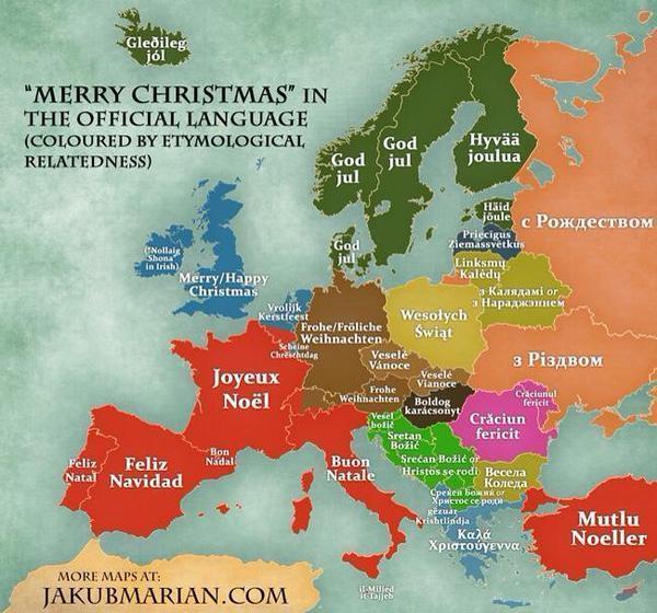 Joyeux Noël en plusieurs langues